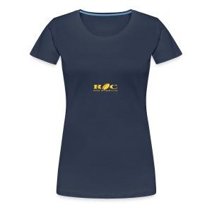 ROC Jaune sur bleu - T-shirt Premium Femme