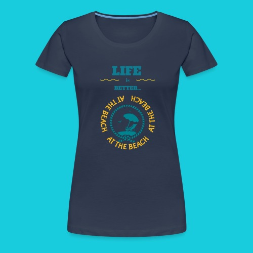 Zwapp Designs Beach - Frauen Premium T-Shirt