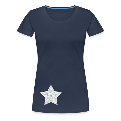 PAS Star greys bg light grey - Frauen Premium T-Shirt