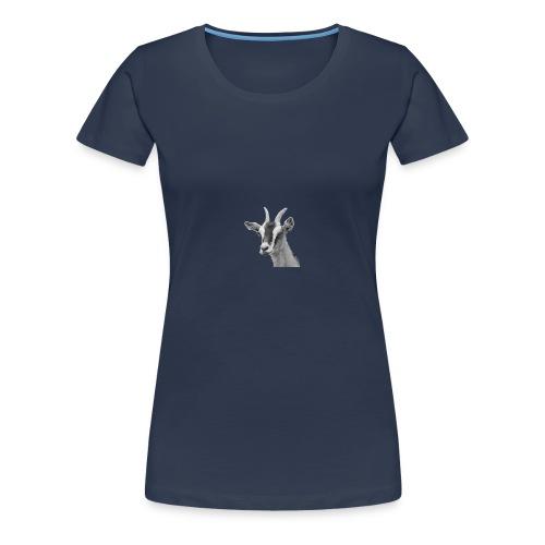 Ziegenkopf schwarzweiss freigestellt - Frauen Premium T-Shirt