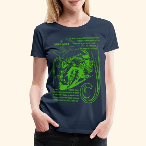 Rennmotorad USA Rennstrecke - Frauen Premium T-Shirt