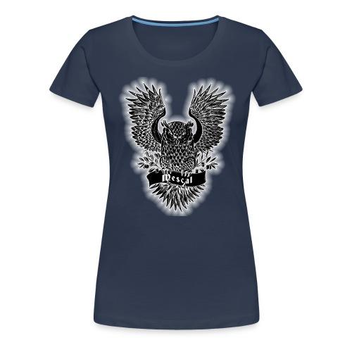 Gufo reale nero - Black Owl - by Mescal - Maglietta Premium da donna