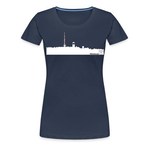 Skyline Inselsberg weiss - Frauen Premium T-Shirt