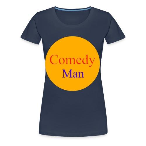 comedy man logo - Vrouwen Premium T-shirt