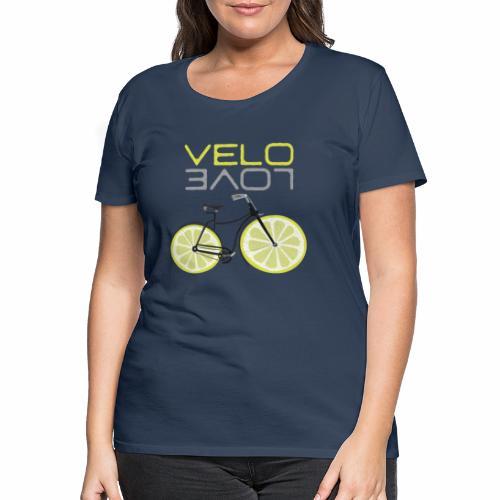 Lemon Bike Shirt Velo Love Shirt Radfahrer Shirt - Frauen Premium T-Shirt