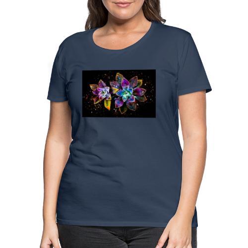 Wunderschöne Kunstblumen - Frauen Premium T-Shirt