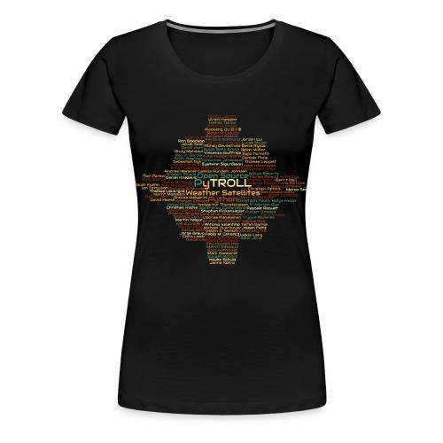 Pytroll wordcloud march 2019 - Women's Premium T-Shirt