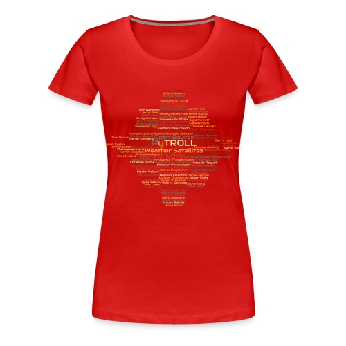 Pytroll wordcloud march 2019 - Women's Premium T-Shirt