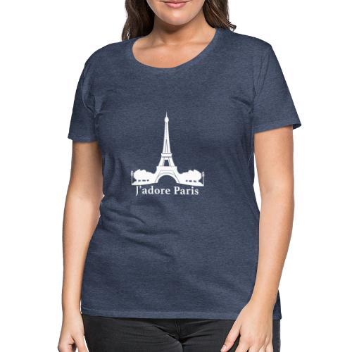 Design j'adore paris ma ville - T-shirt Premium Femme