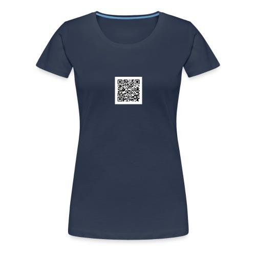 qr white - Frauen Premium T-Shirt