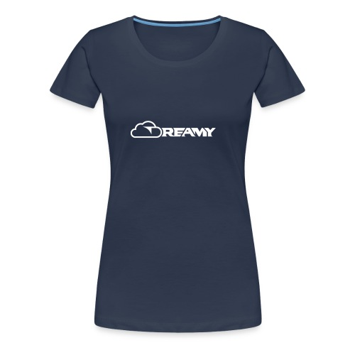 Dreamy Logo White (Full Resolution) - Dame premium T-shirt