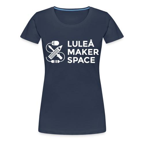 Luleå Makerspace white - Premium-T-shirt dam