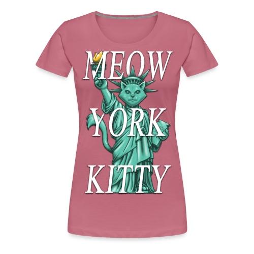 Meow York Kitty - Women's Premium T-Shirt