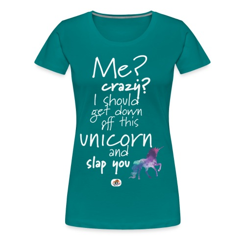 Crazy Unicorn - Light with picture - Women's Premium T-Shirt