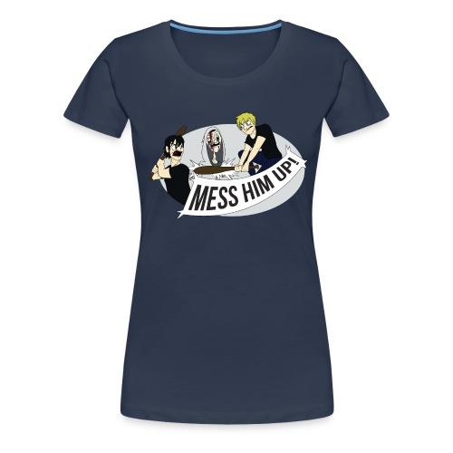 Mess Him Up Photoshop without grey shadows gif - Women's Premium T-Shirt