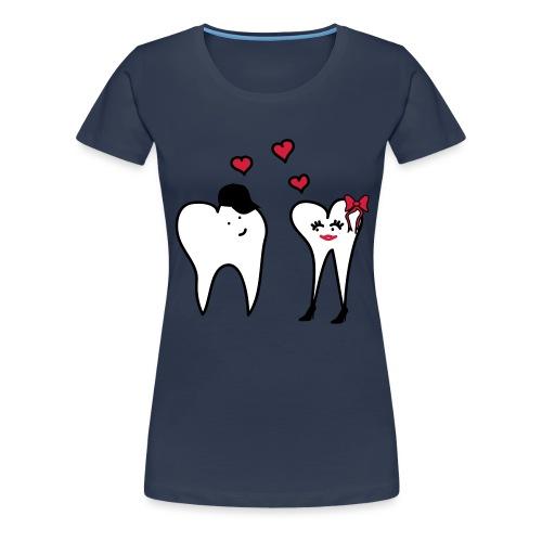 Zähne in Love II - Frauen Premium T-Shirt