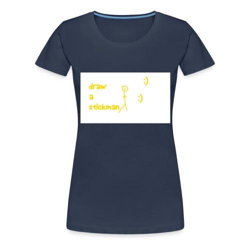 draw a stickman png - Women's Premium T-Shirt