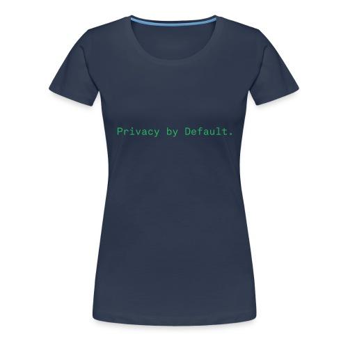 pEp-slogan-green - Frauen Premium T-Shirt