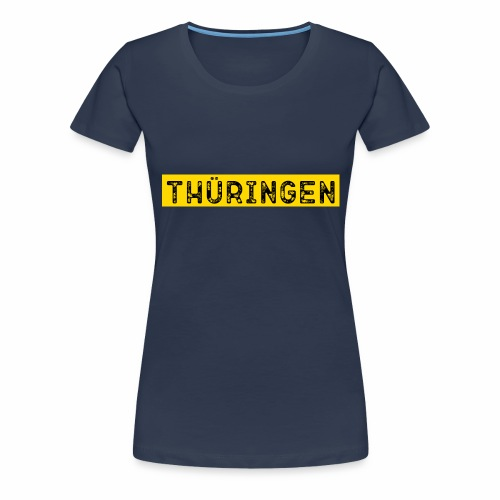 Thüringen Schrift - Frauen Premium T-Shirt