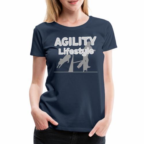 Agility Dogagility Hundesport Hundetraining - Frauen Premium T-Shirt
