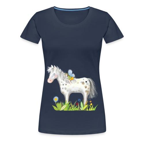 Fee. Das Pferd und die kleine Reiterin. - Frauen Premium T-Shirt