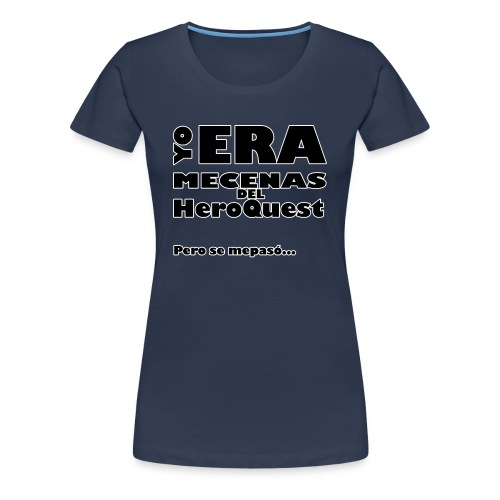 Camiseta manga larga Yo era mecenas del HQ Gris - Camiseta premium mujer
