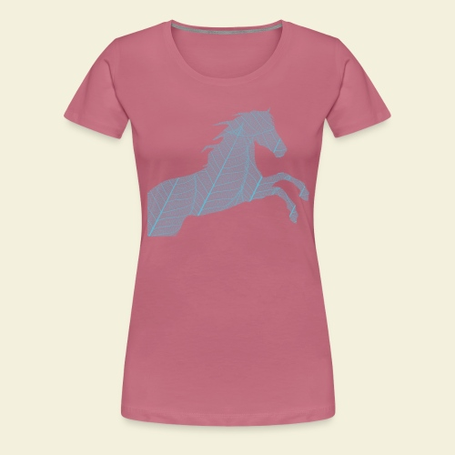 Cheval feuille - T-shirt Premium Femme