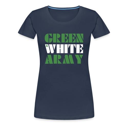 GREEN & WHITE ARMY - Women's Premium T-Shirt