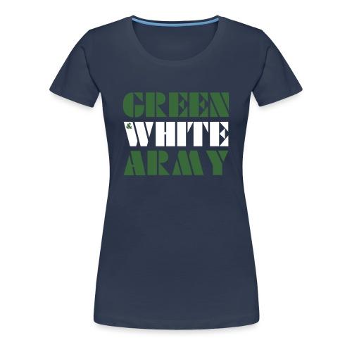 GREEN & WHITE ARMY _STENCIL_3 - Women's Premium T-Shirt