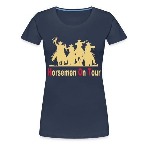 Horsemen On Tour Vektor min 27x20 cm - Frauen Premium T-Shirt