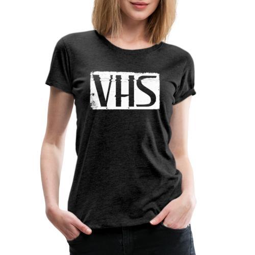 VHS WHITE LABEL - Naisten premium t-paita