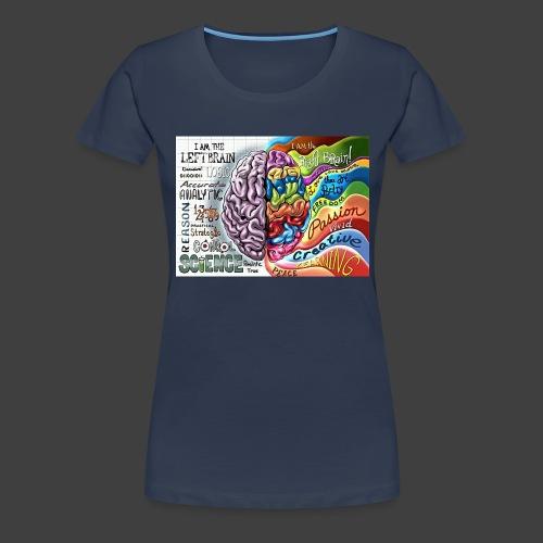 Brain LR - Women's Premium T-Shirt