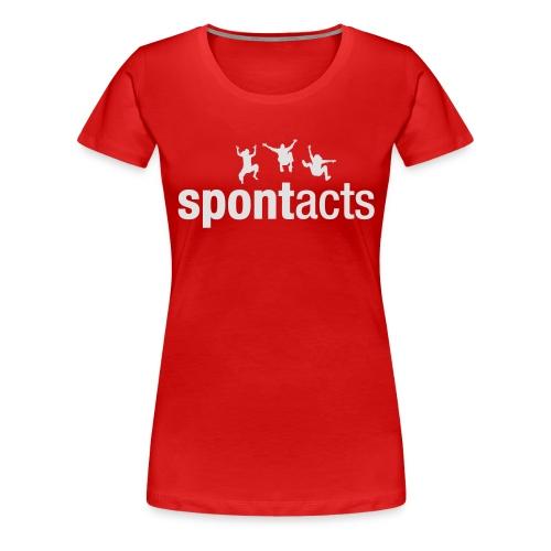 spontacts_Logo_weiss - Frauen Premium T-Shirt