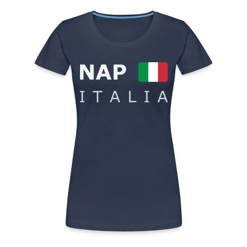 NAP ITALIA white-lettered 400 dpi - Women's Premium T-Shirt