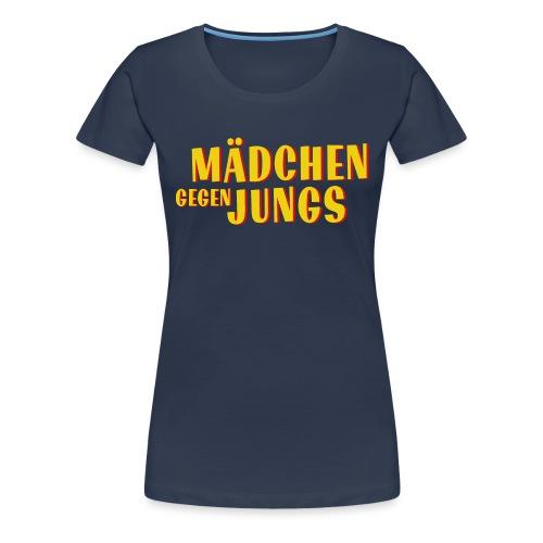 Mädchen gegen Jungs - Frauen Premium T-Shirt