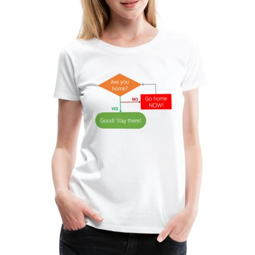 Are you home? - Women's Premium T-Shirt