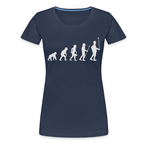 Evolution Stabführer weiß - Frauen Premium T-Shirt
