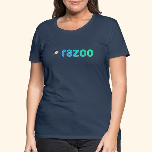 Logo razoo® con razzo - Maglietta Premium da donna
