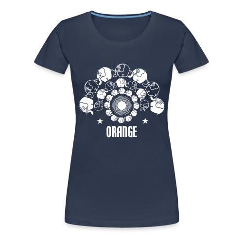 Orangevibes Logo weiss - Frauen Premium T-Shirt