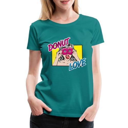 Popart - Donut Love - Zunge - Süßigkeit - Frauen Premium T-Shirt