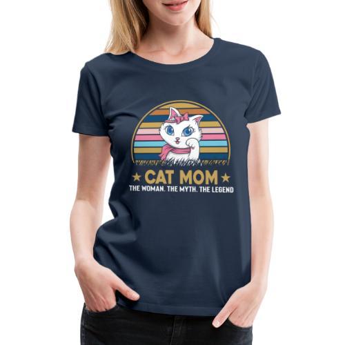 CAT MOM - T-shirt Premium Femme