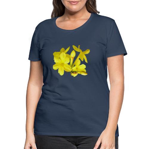 Winterjasmin Jasmin gelb Duft Zierpflanze Strauch - Frauen Premium T-Shirt