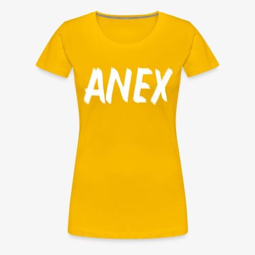 V-neck T-Shirt Anex white logo - Women's Premium T-Shirt