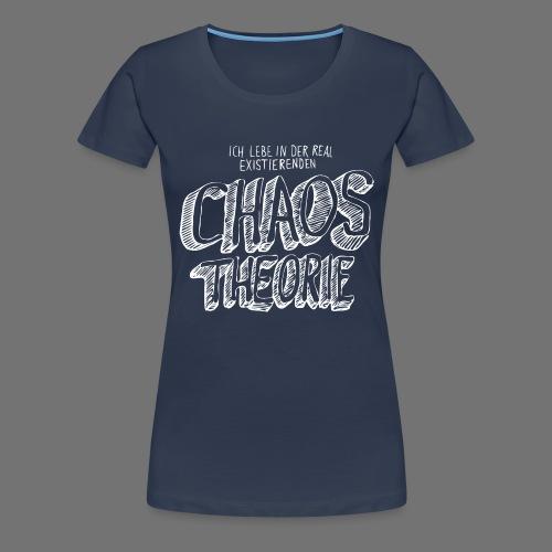 Chaos Theory (valkoinen) - Naisten premium t-paita
