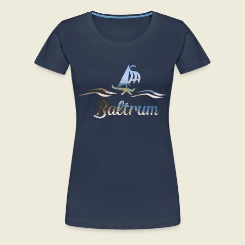 Baltrum Urlaub Nordsee Meer - Frauen Premium T-Shirt