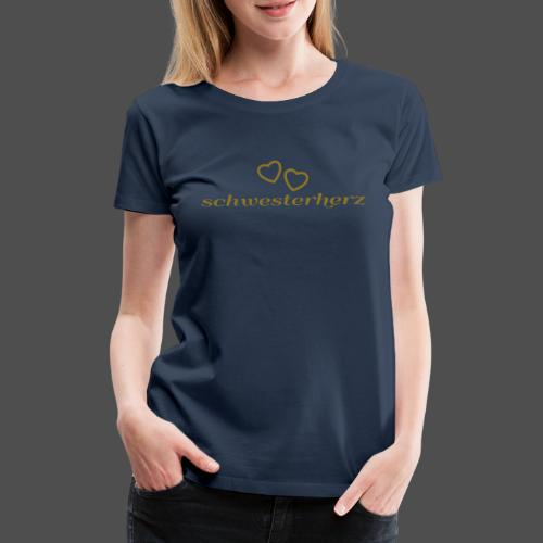 siostra serce - Koszulka damska Premium