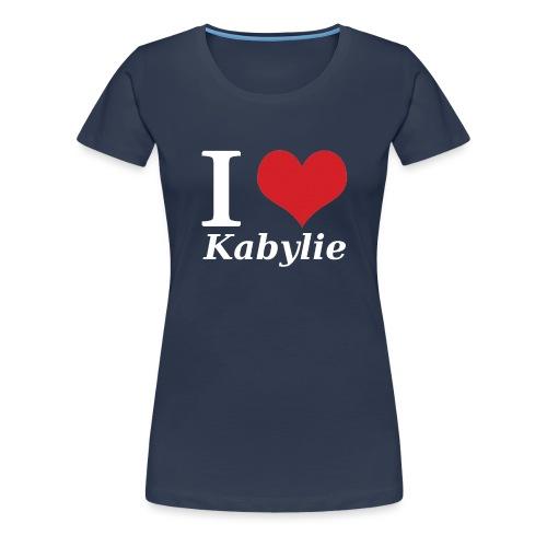 I Love Kabylie Blanc - T-shirt Premium Femme