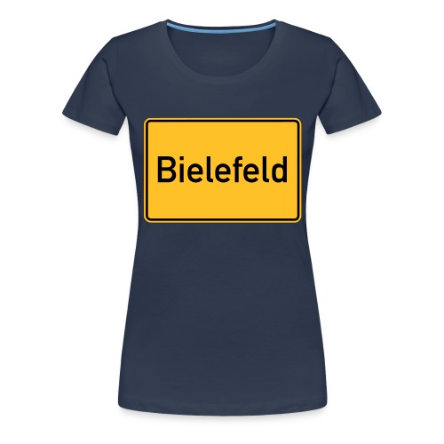 Ortsschild Bielefeld - Frauen Premium T-Shirt