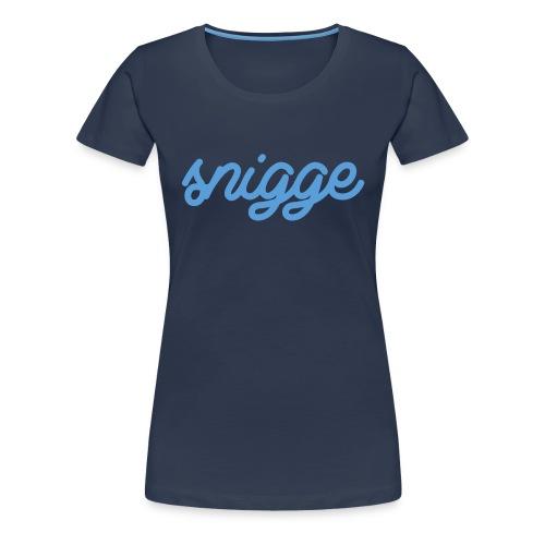 snigge schriftzug golfcap png - Frauen Premium T-Shirt