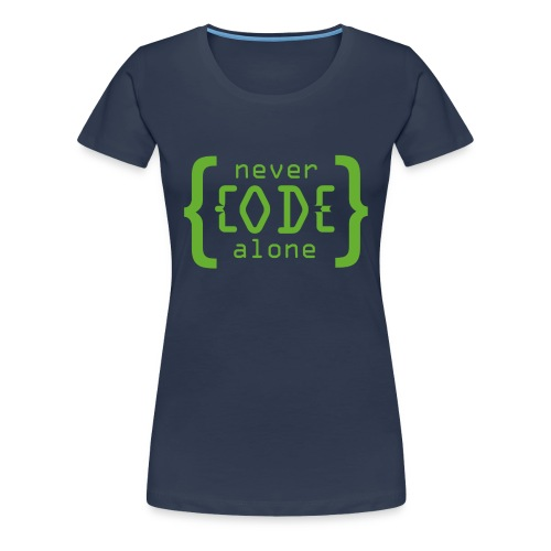 Never Code Alone Logo - Frauen Premium T-Shirt
